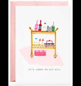 Mr. Boddington's Studio Diapers on the Bar Cart Card