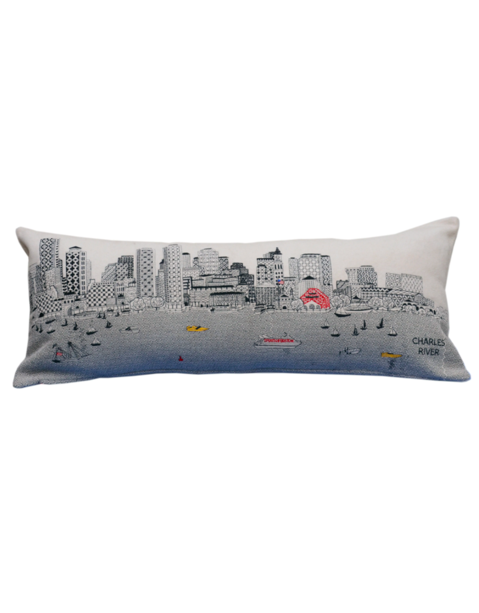 Beyond Cusions Boston Skyline Pillow Queen Day