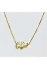 Elephant Necklace in Gold
