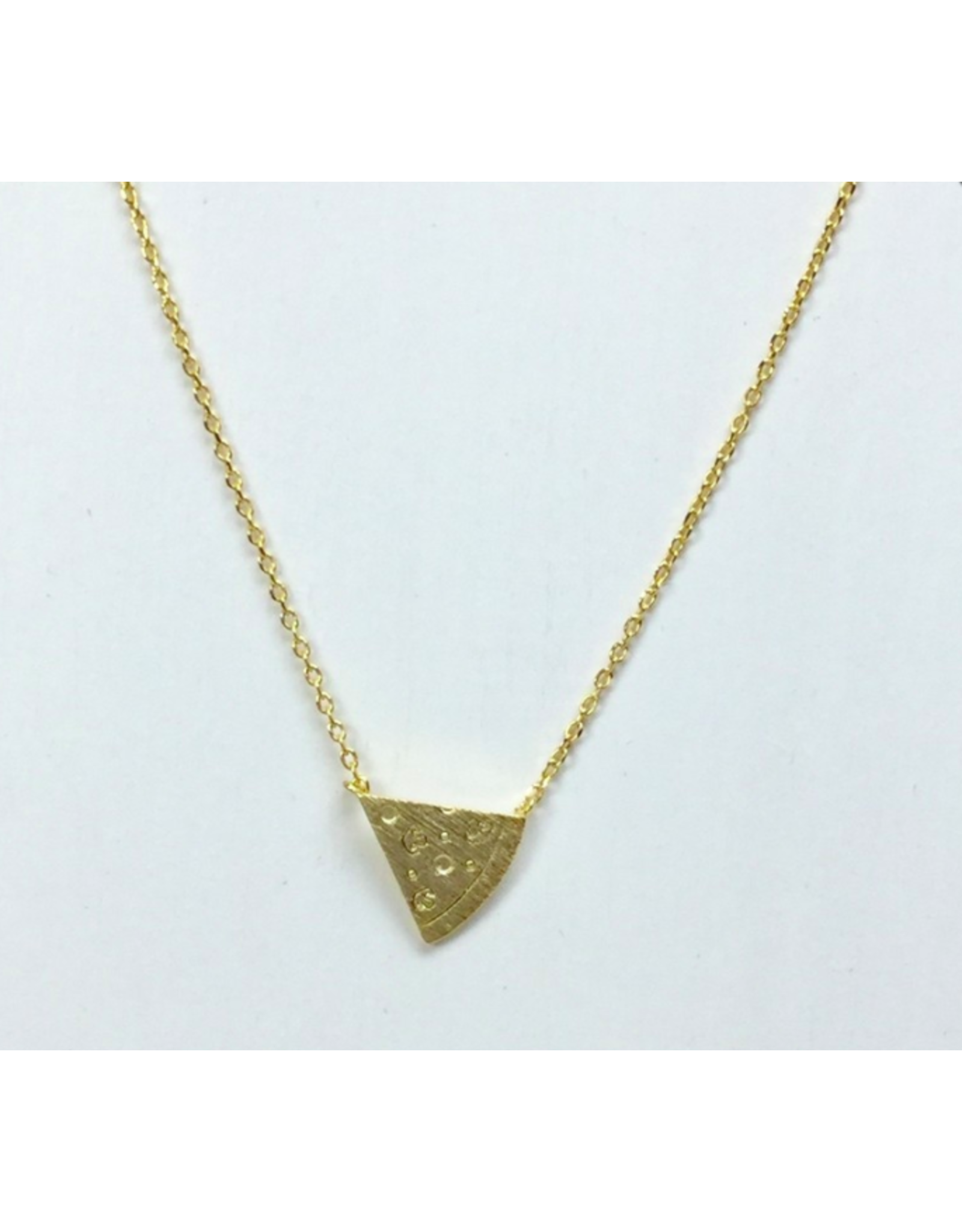 Pizza Necklace in Gold
