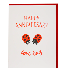 Smudge Ink Little Ladybugs Anniversary Card