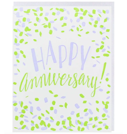 Smudge Ink Confetti Anniversary Card