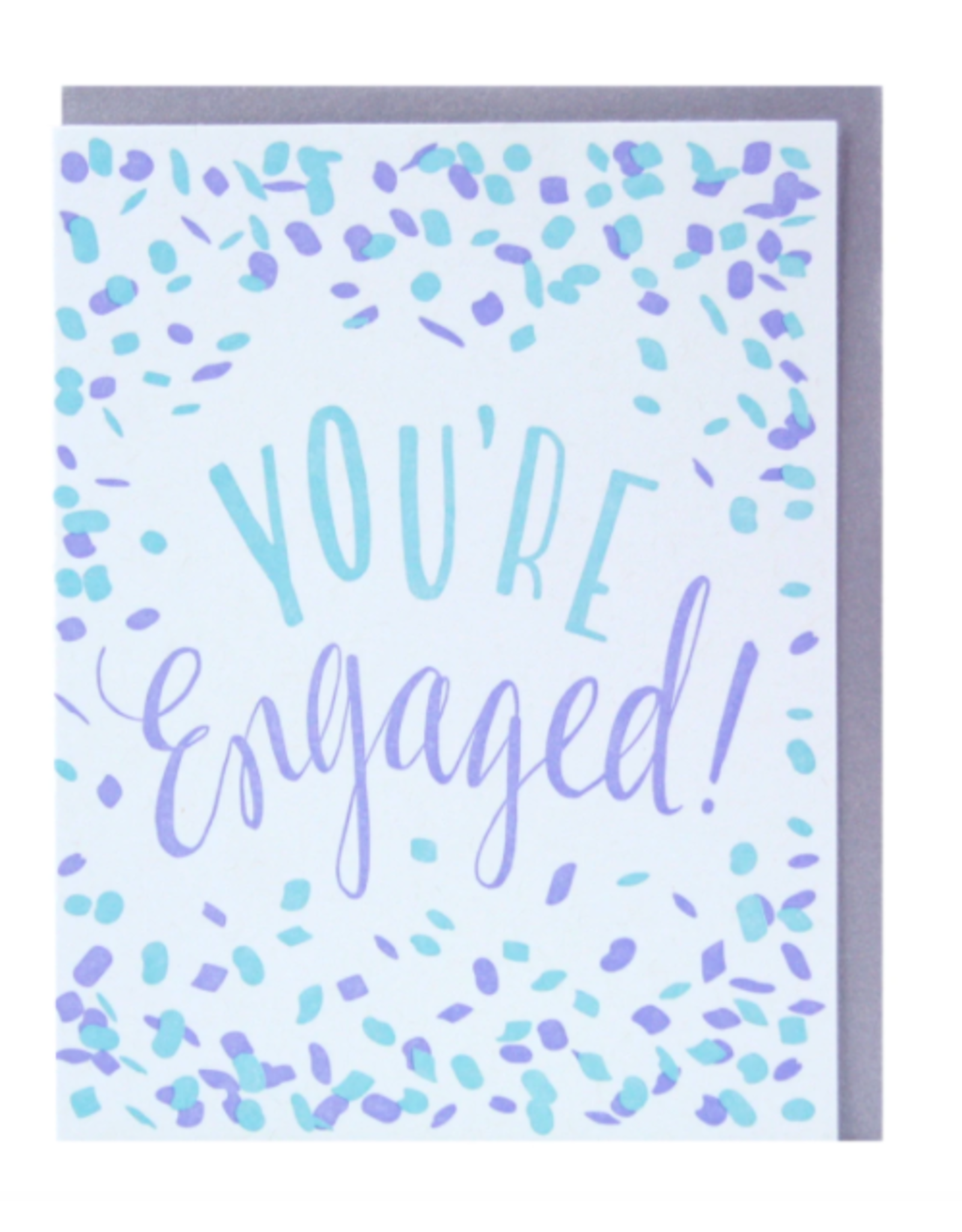 Smudge Ink Confetti Engagement Card
