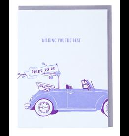 Smudge Ink Bridal Buggy Card