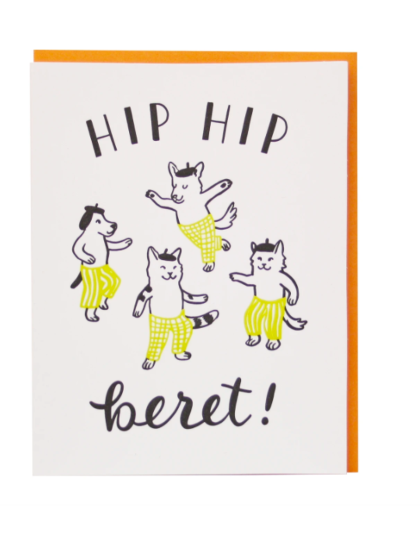 Smudge Ink Beret Birthday Card