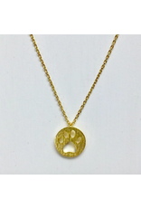 Dog Paw Necklace in Gold