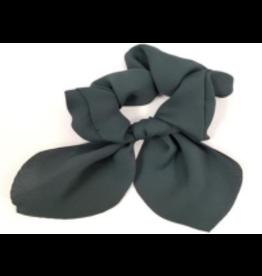 Silk Tie Scrunchie in Grey