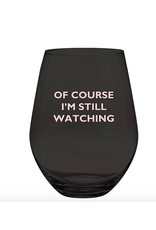Slant Collections Still Watching Jumbo Stemless Wineglass
