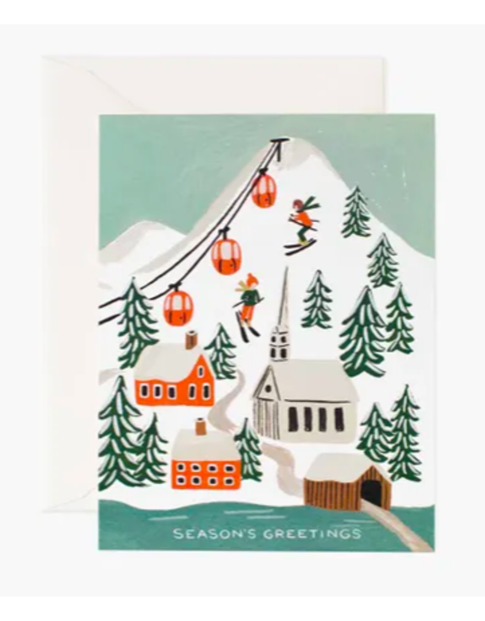 Rifle Paper Co. Holiday Snow Scene Card - Boxed Set