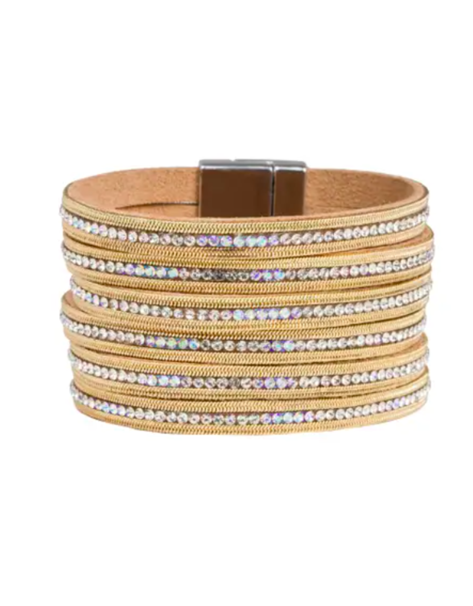 Saachi Crystal and Gold Wrapped Bracelet