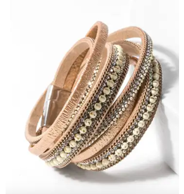 Saachi Gold Double Wrapped Bracelet