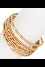 Saachi Gold Cube Wrapped Bracelet