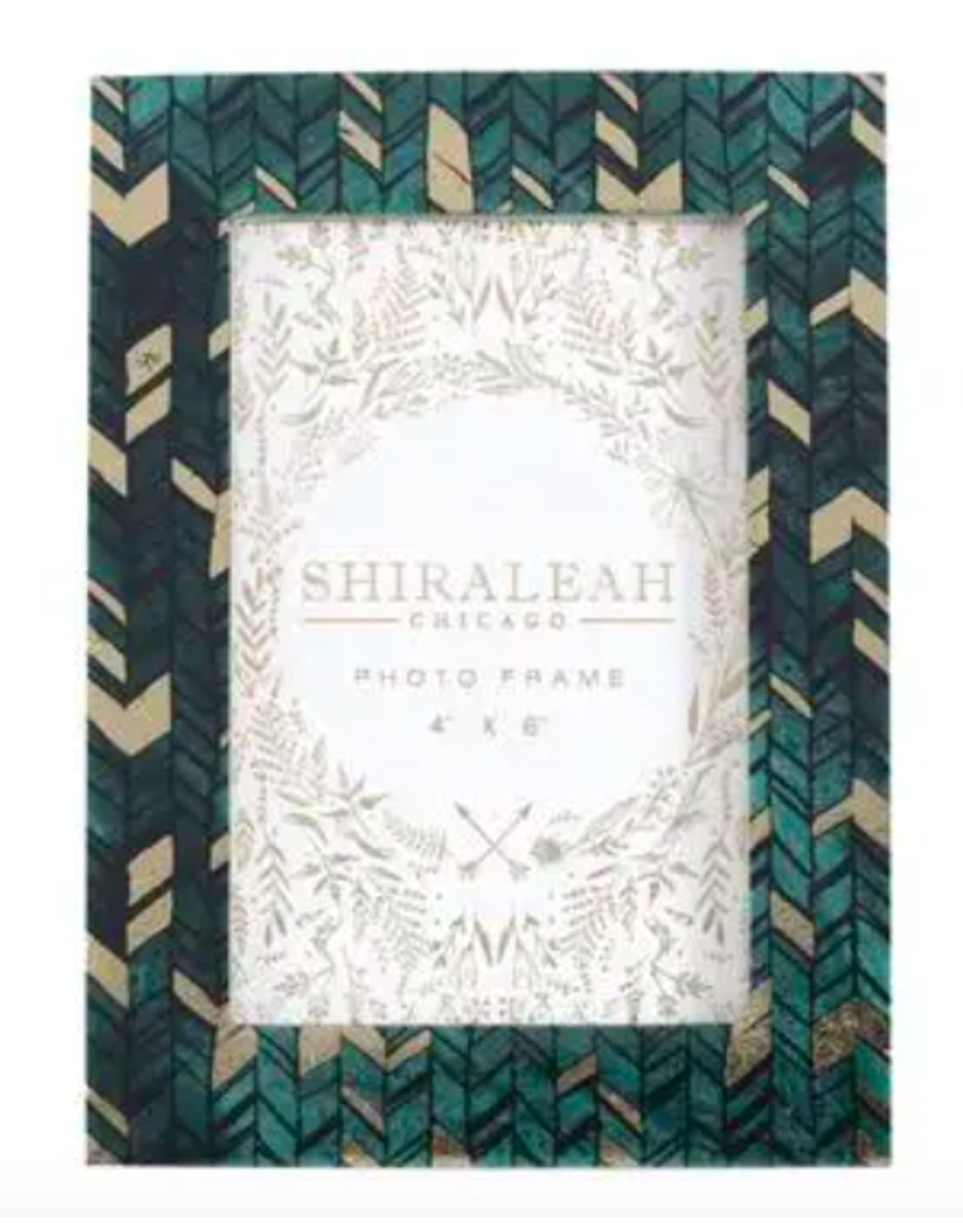 "Granada Braid Print in Green 4"" x 6"" Frame"