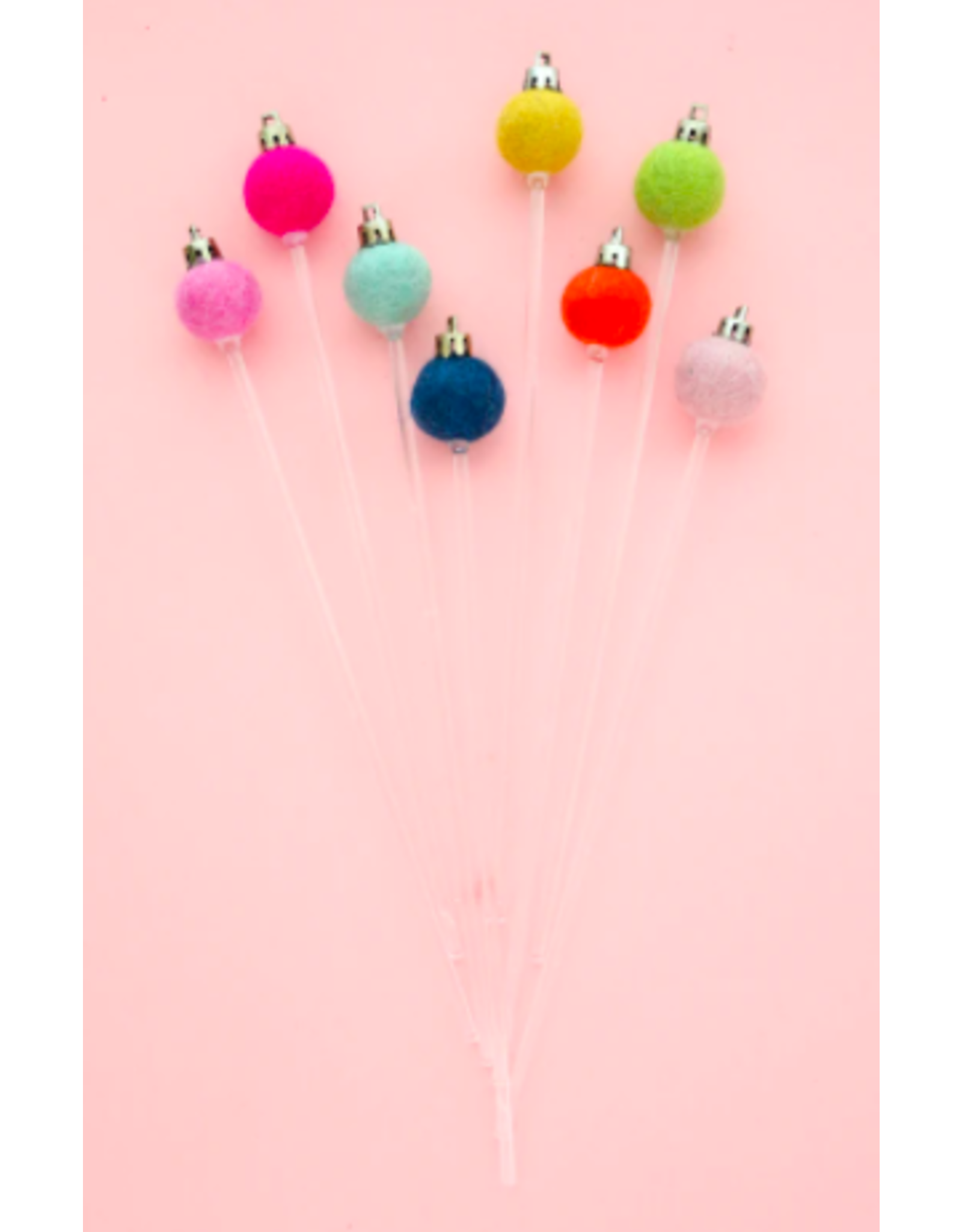 Kailo Chic Felt Ornament Drink Stirrers