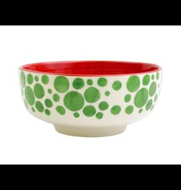 Vietri Mistletoe Bubble Medium Footed Serving Bowl