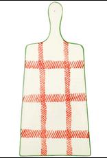 Vietri Mistletoe Plaid Cheese Board
