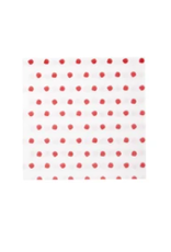 Vietri Red Dot Cocktail Napkins