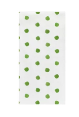 Vietri Green Dot Guest Towels