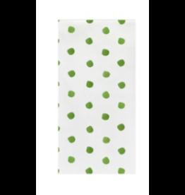 Vietri Green Dot Guest Towels