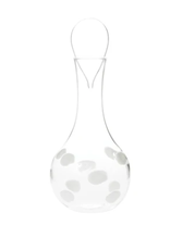 Vietri White Drop Decanter
