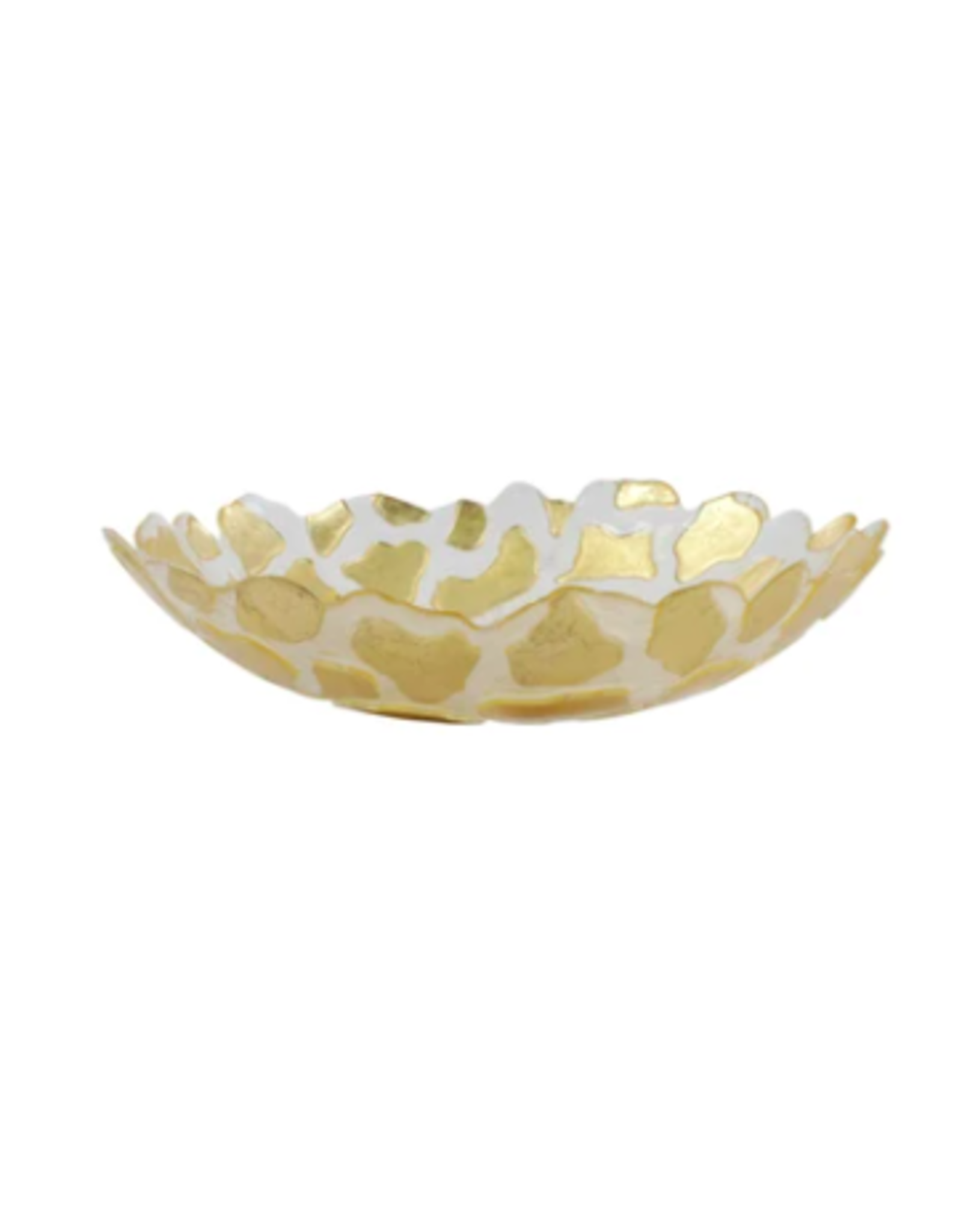 Vietri Rufalo Gold Giraffe Medium Shallow Bowl