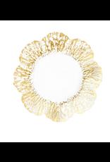 Vietri Rufalo Gold Canape Plate