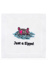 August Morgan Just A Sippo Cocktail Napkin