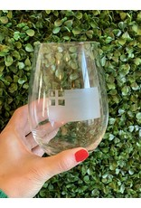 Maple Leaf at Home Bunker Hill Flag Wine Glass