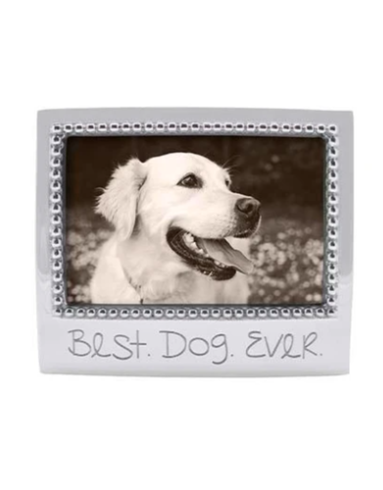 Mariposa Best Dog Ever Beaded 4x6 Frame