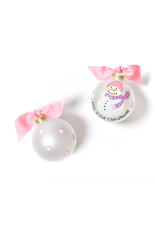 Coton Colors My First Christmas Snowman Girl Glass Ornament