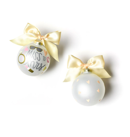 Coton Colors Miss to Mrs. Glass Ornament