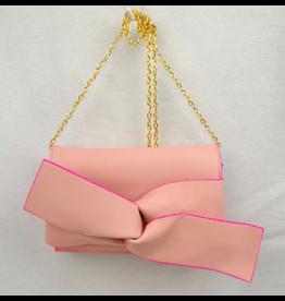 Light Pink Bow Clutch