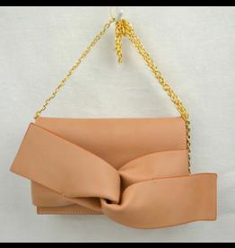 Light Tan Bow Clutch