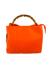 Accessories Shop by Place & Gather Orange Bamboo Handle Tote