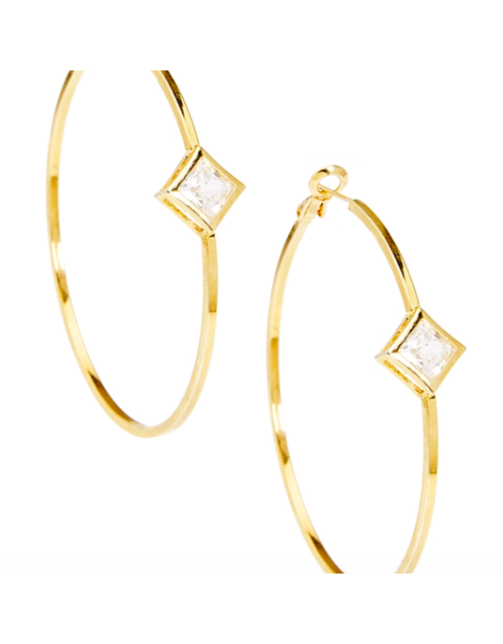 Zenzii Glam Hoop Earring in Gold