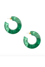 Zenzii Flat Hoop Earring in Emerald