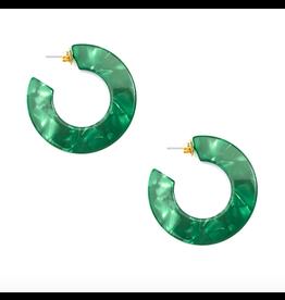 Zenzii Flat Hoop Earring in Emerald