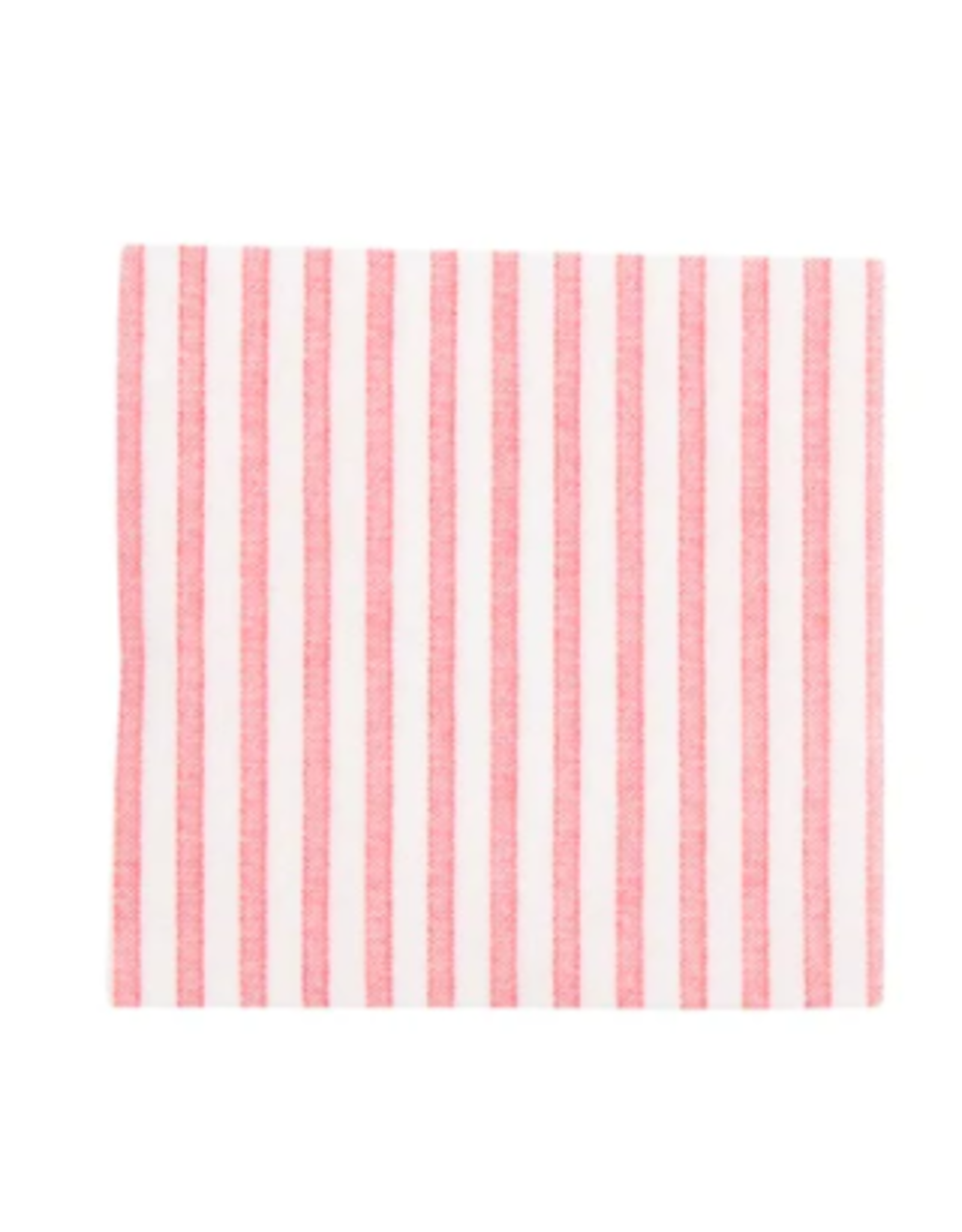 Vietri Red and White Striped Cocktail Napkins