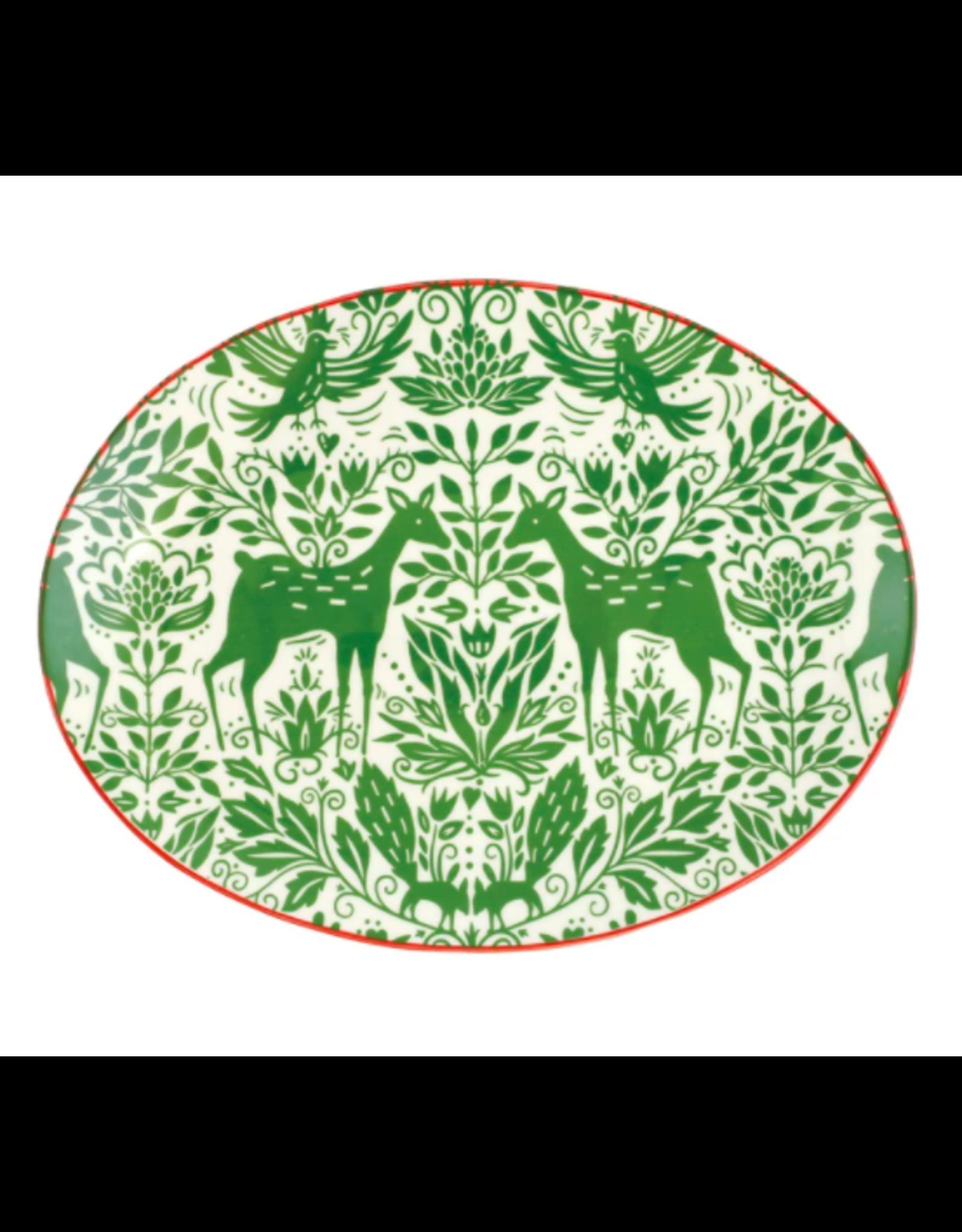 Vietri Mistletoe Oval Platter
