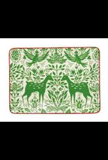 Vietri Mistletoe Small Rectangular Platter