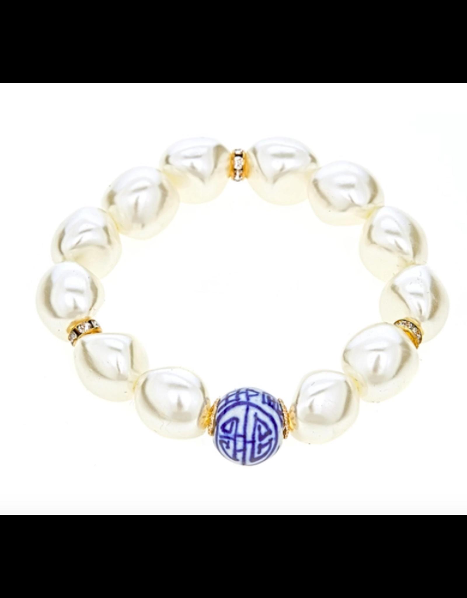 Fornash China Blue Bracelet in Pearl