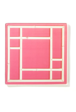 Chinoiserie Glass Plate in Pink