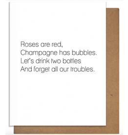Pretty Alright Goods Champagne Poem Greeting Card