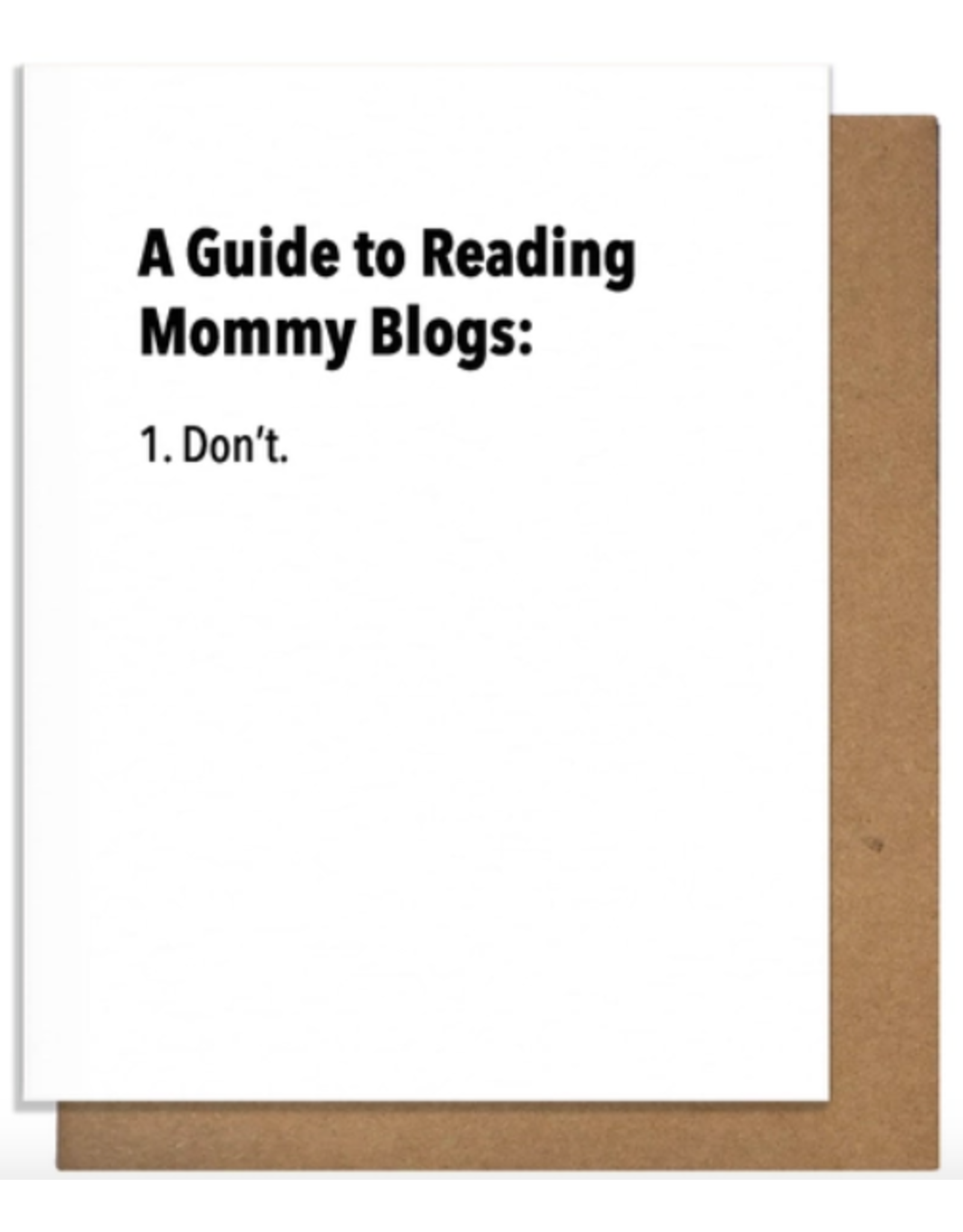 Pretty Alright Goods Mommy Blogs Card