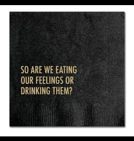 Pretty Alright Goods Eating Feelings Cocktail Napkin
