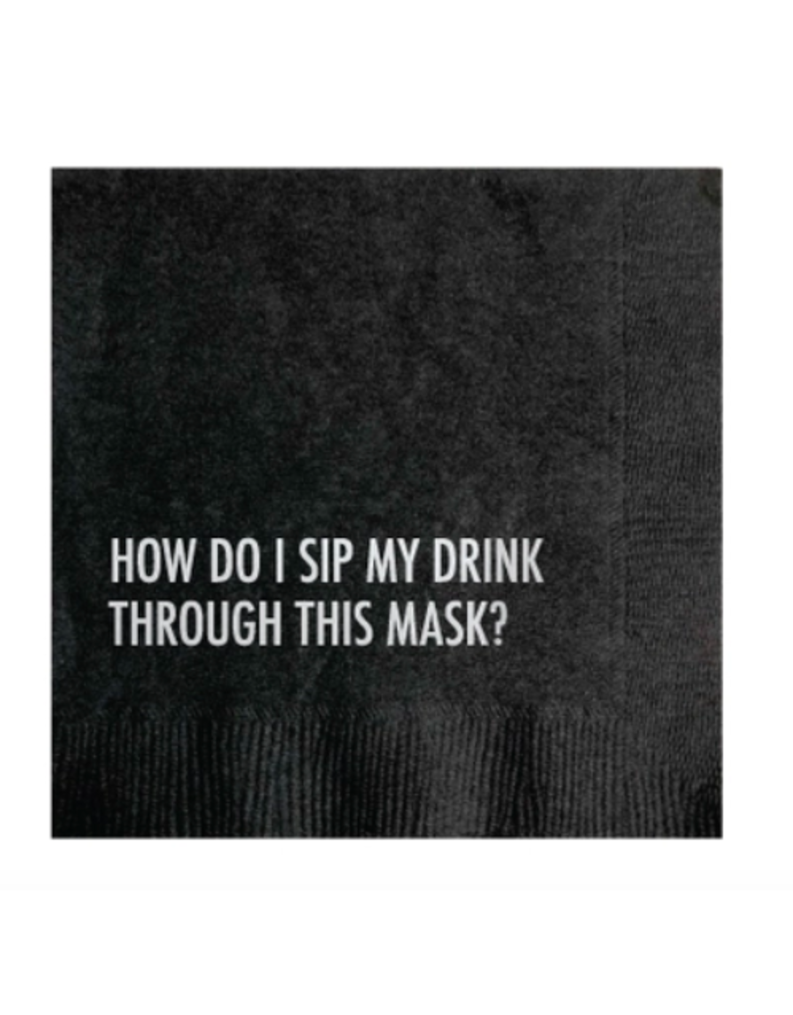 Pretty Alright Goods Mask Drink Cocktail Napkin