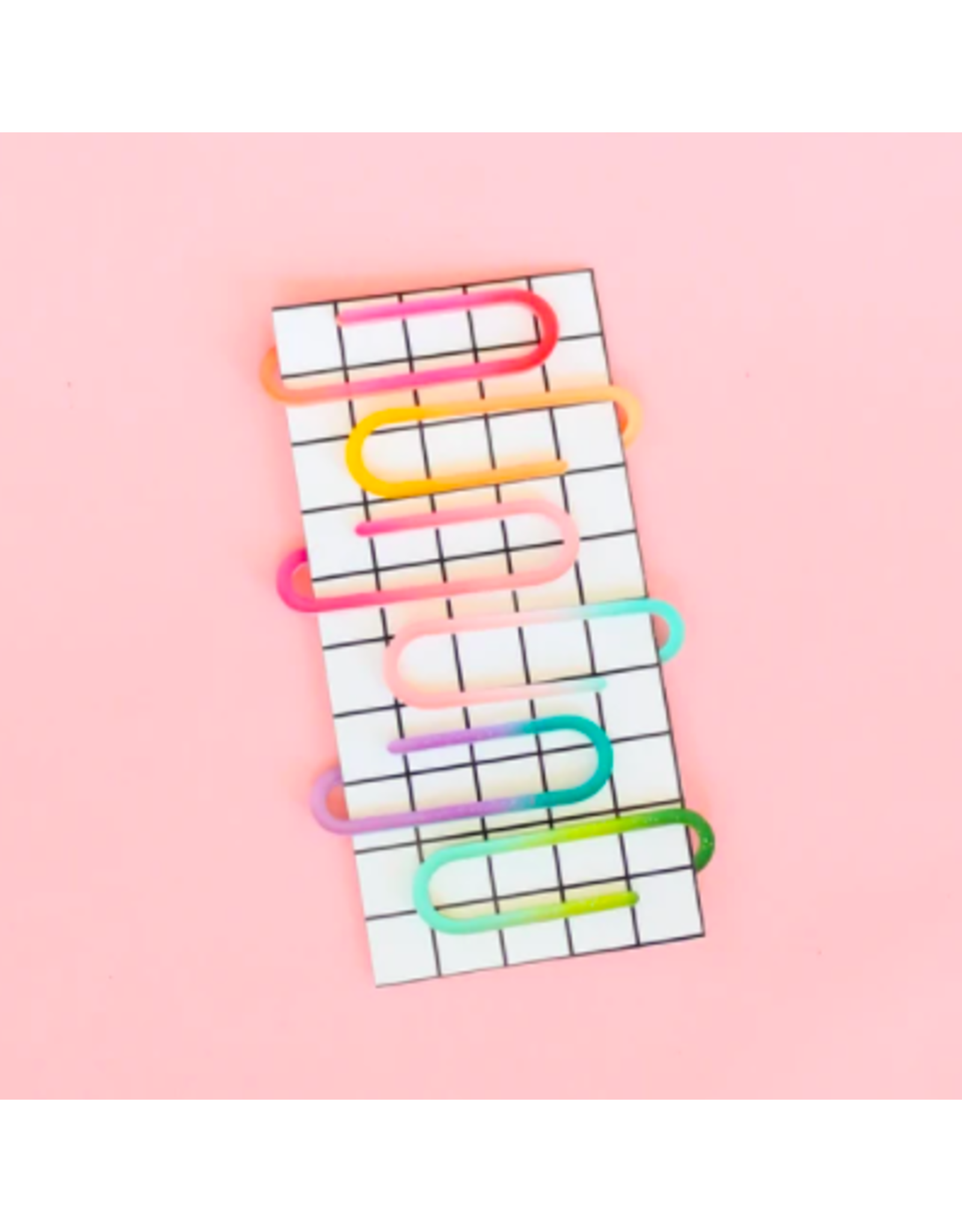 Kailo Chic Acrylic Paper Clips in Ombre