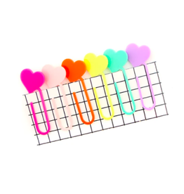 Kailo Chic Heart Acrylic Paper Clips