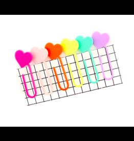 Kailo Chic Heart Acrylic Paper Clips