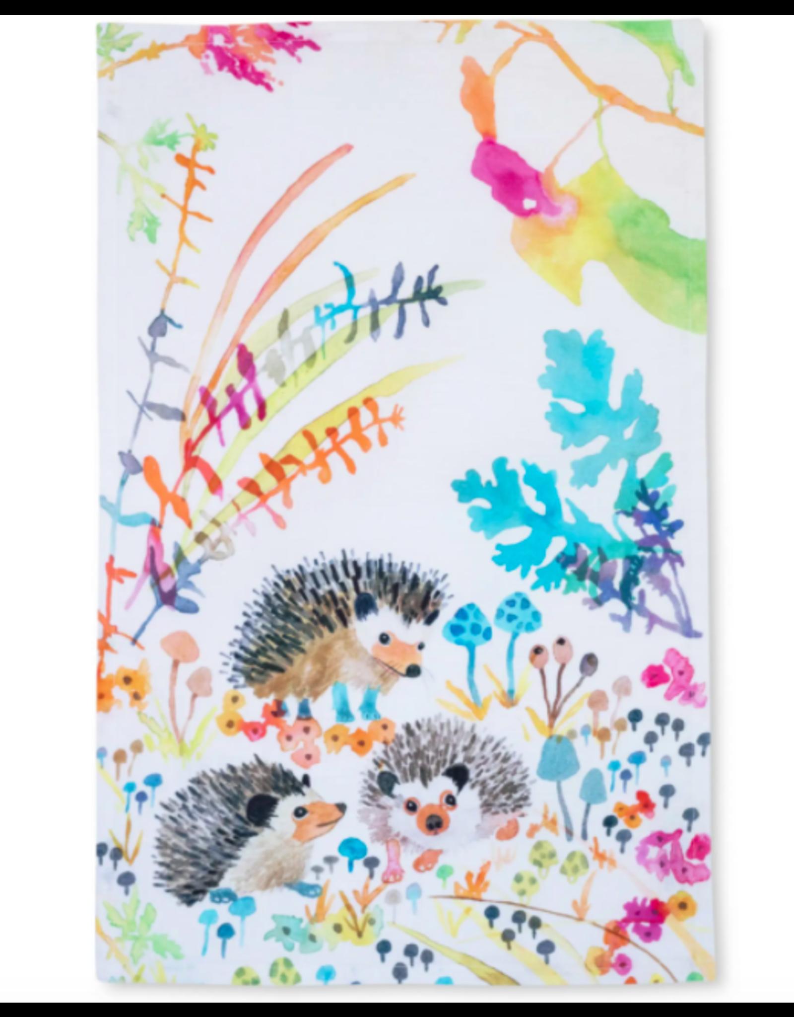 Betsy Olmstead Hedgehogs Tea Towel